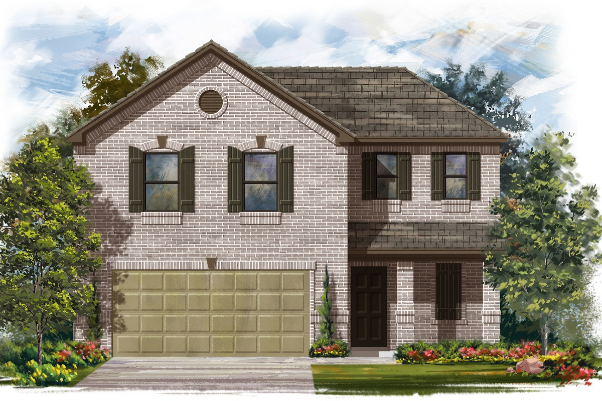 New Homes in Jarrell, TX - Plan E-1895 C