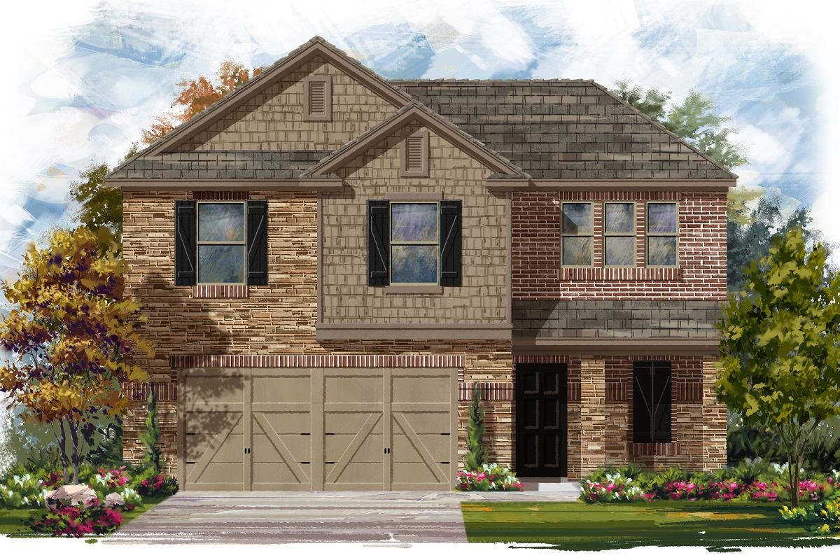 New Homes in Jarrell, TX - Plan E-1895 D