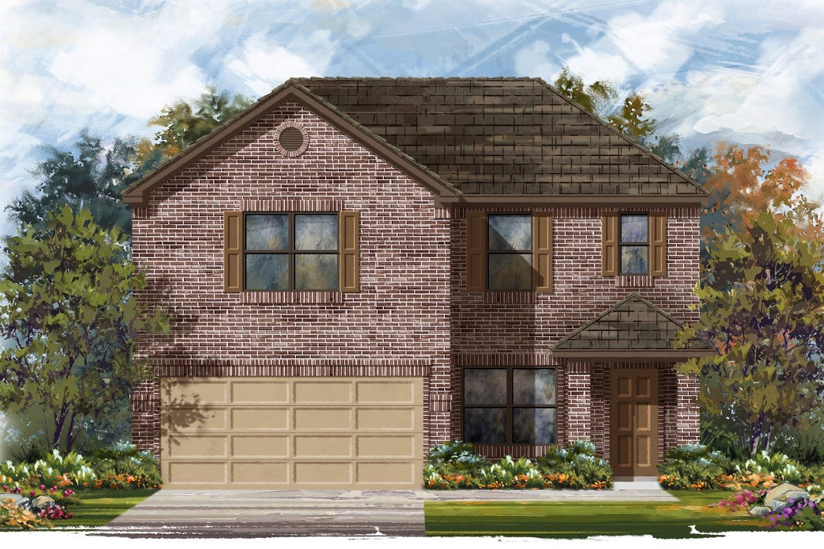 New Homes in Jarrell, TX - Plan E-2177 B