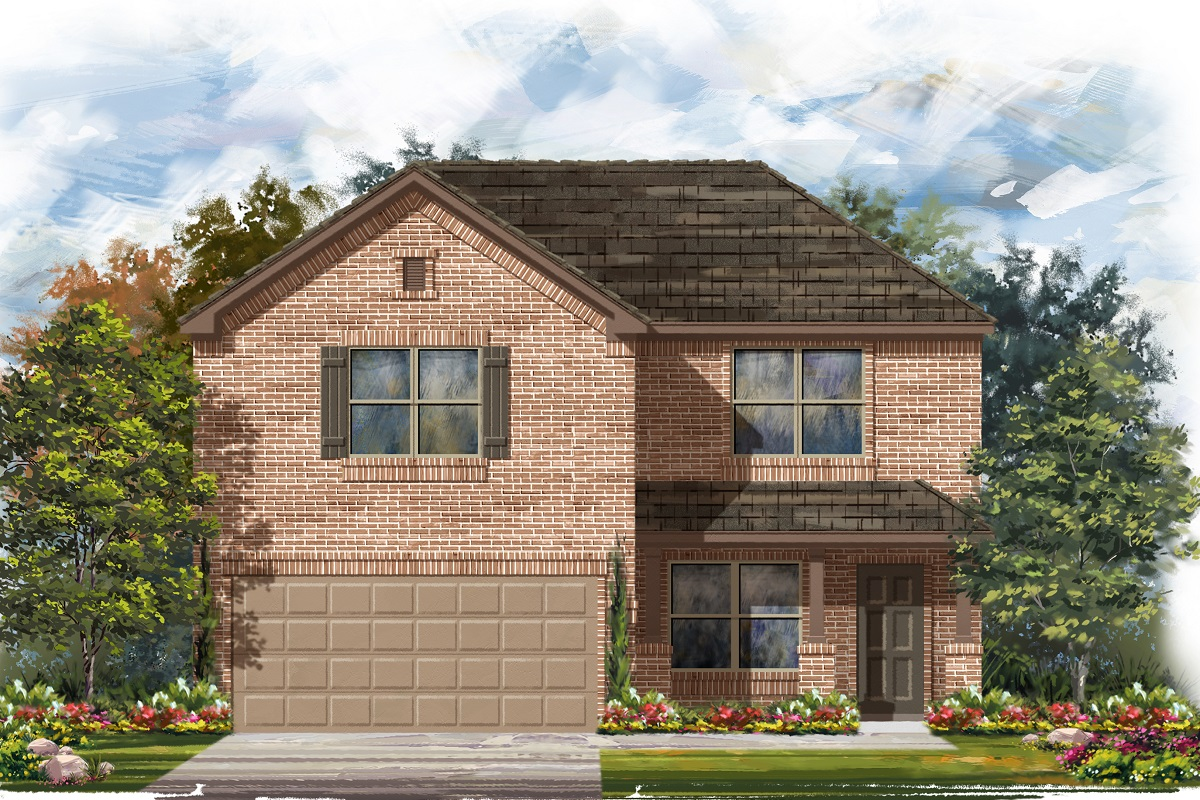 New Homes in Jarrell, TX - Plan E-2177 C