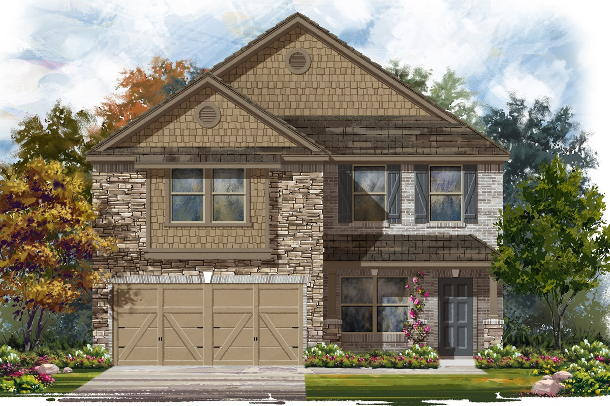 New Homes in Jarrell, TX - Plan E-2177 D