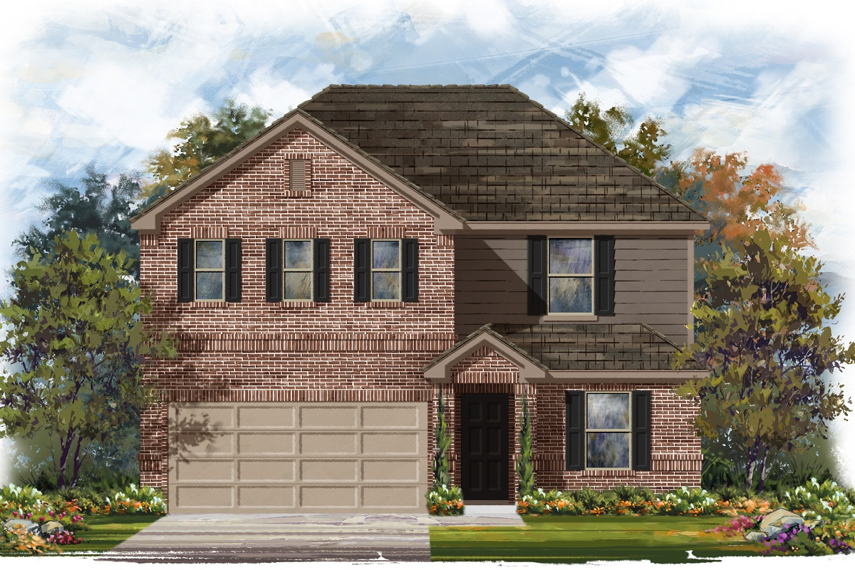New Homes in Jarrell, TX - Plan E-2403 B