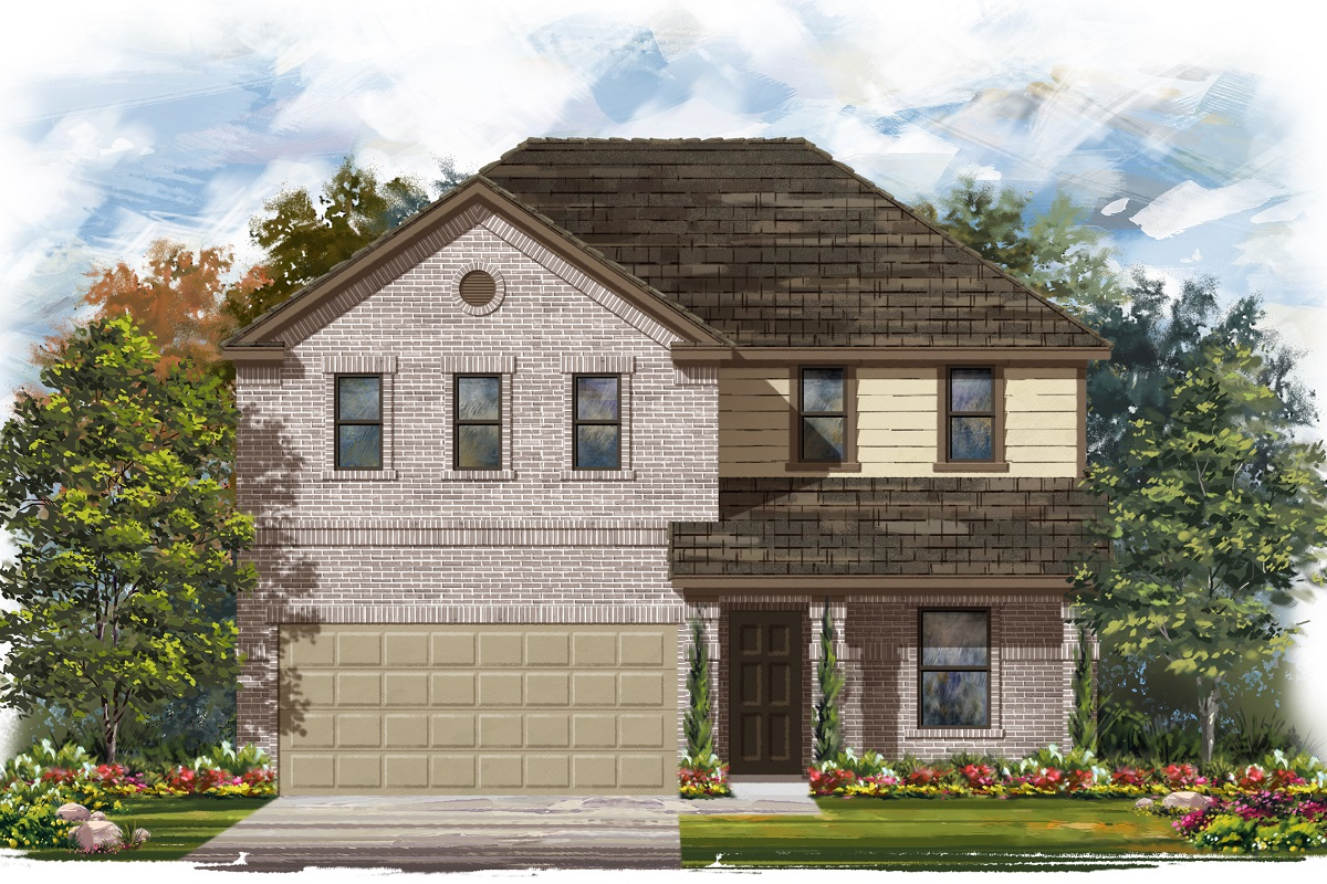 New Homes in Jarrell, TX - Plan E-2403 C