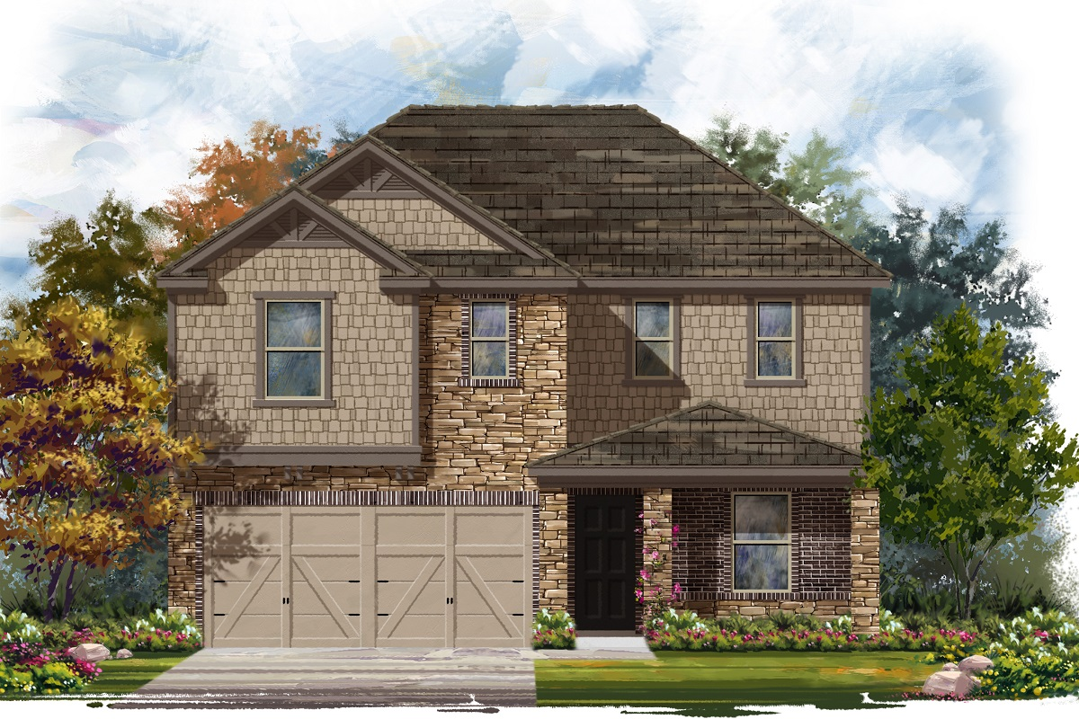 New Homes in Jarrell, TX - Plan E-2403 D
