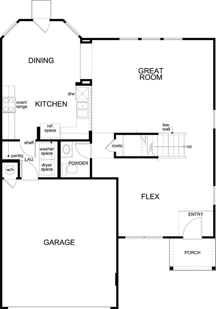 New Homes in Jarrell, TX - Plan 2177, First Floor