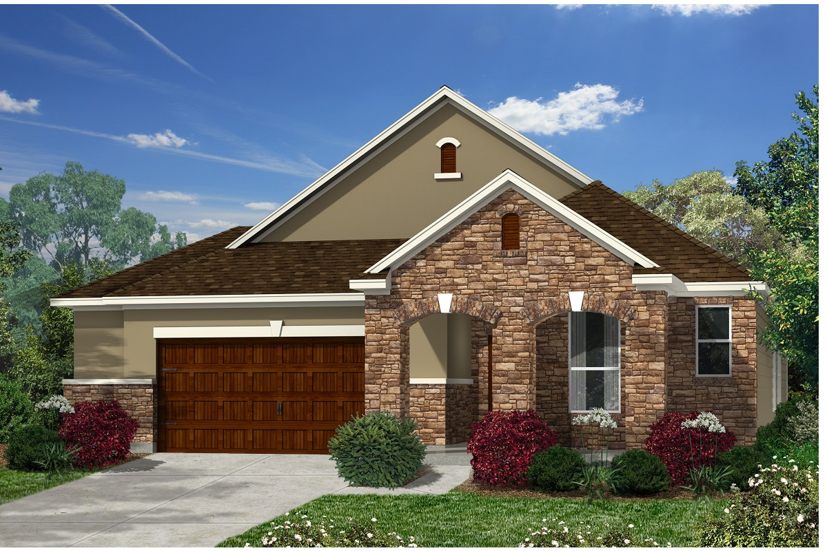 New Homes in Kyle, TX - Plan A-1996