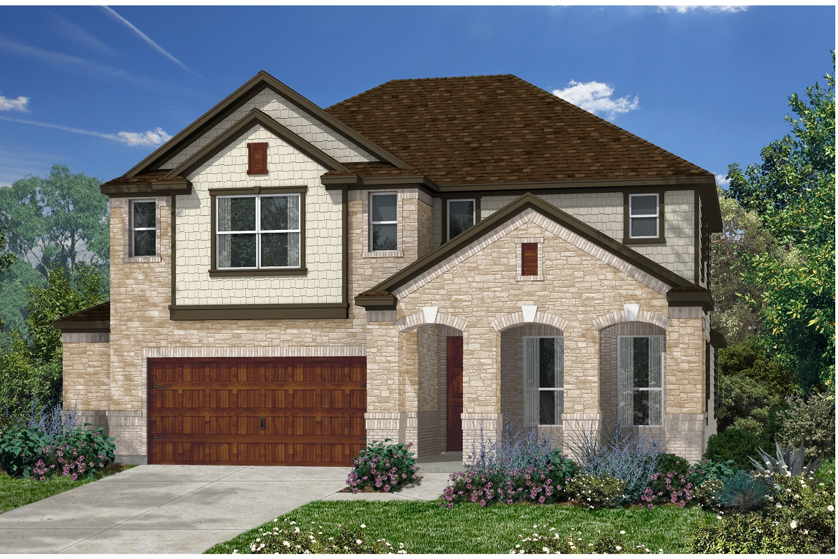 New Homes in Kyle, TX - Plan A-3023 C