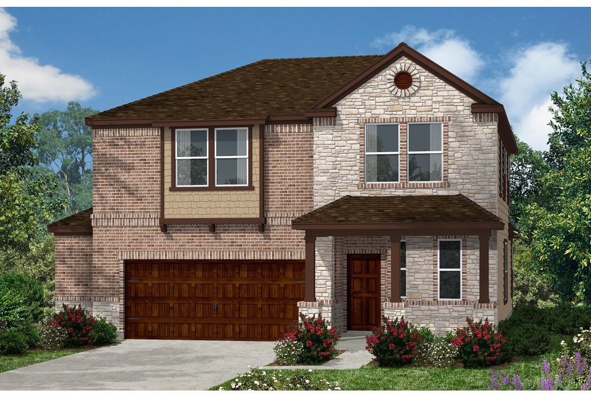 New Homes in Kyle, TX - Plan E-2412 J