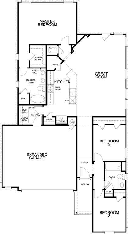 New Homes in Kyle, TX - Plan 1591, First Floor