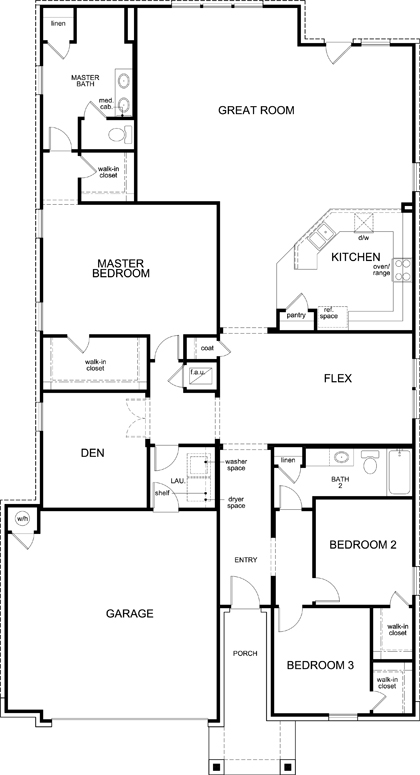 New Homes in Kyle, TX - Plan 2382, First Floor