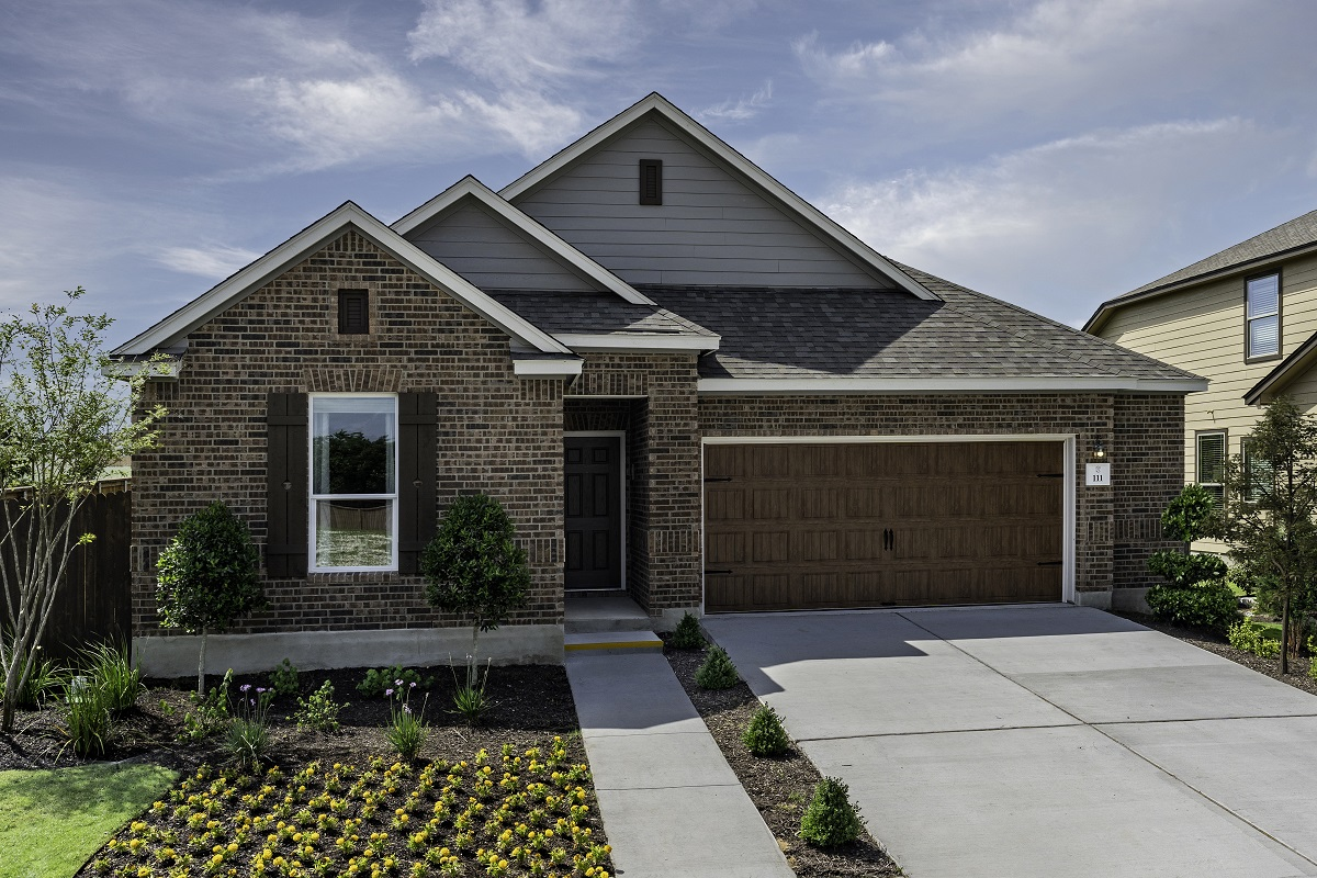 New Homes in Kyle, TX - Plan A-1491 Modeled