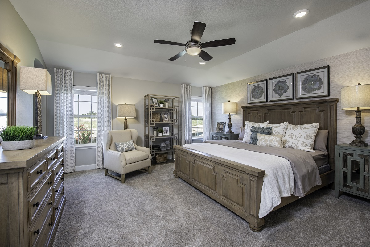 New Homes in Kyle, TX - Stagecoach Crossing Plan E-2403 Master Bedroom