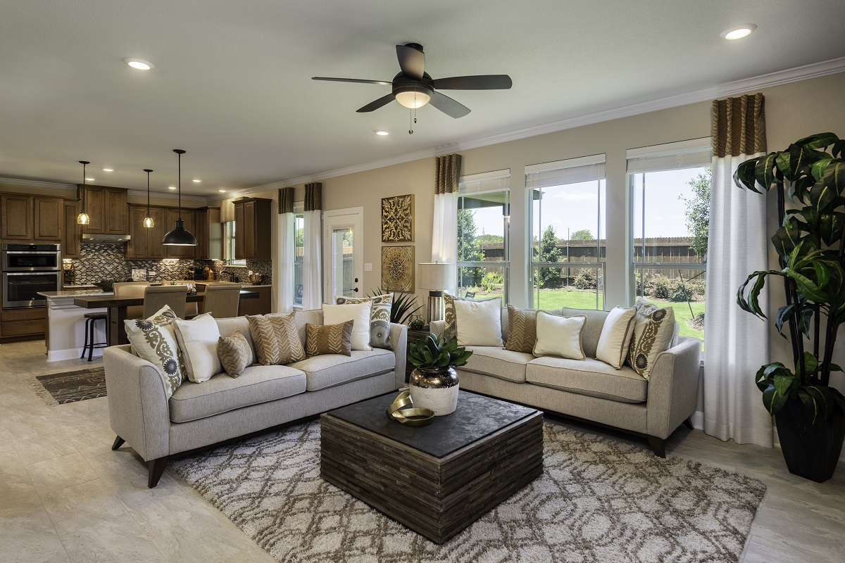 New Homes in Kyle, TX - Stagecoach Crossing Plan A-2655 Great Room