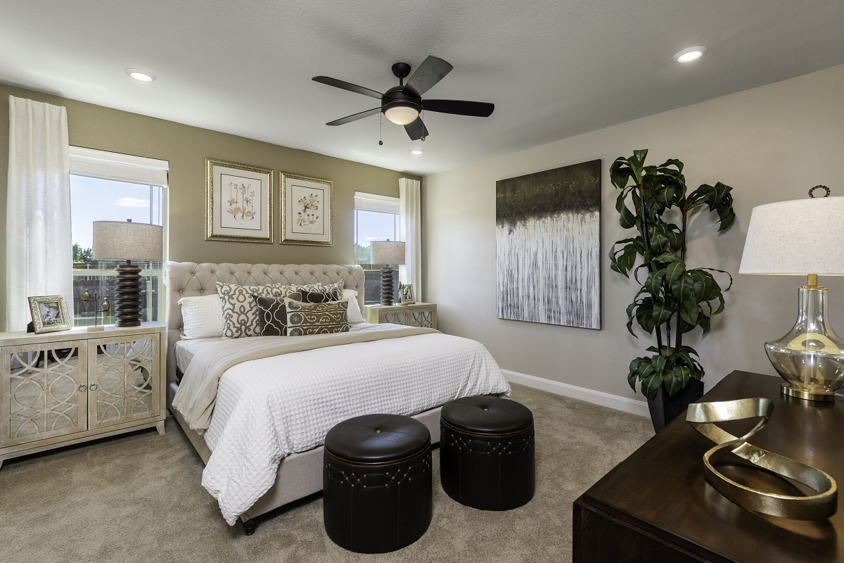 New Homes in Kyle, TX - Stagecoach Crossing Plan A-2655 Master Bedroom