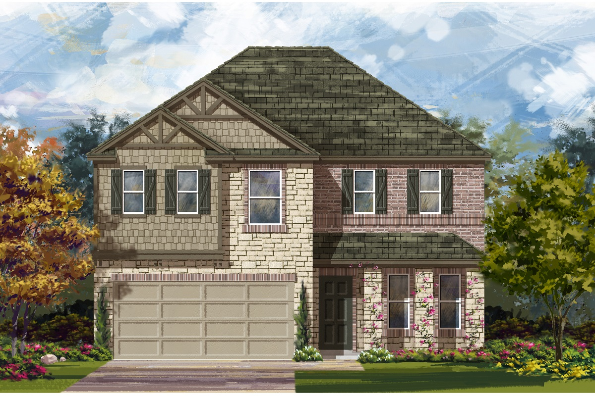 New Homes in Del Valle, TX - Plan E-2898 J