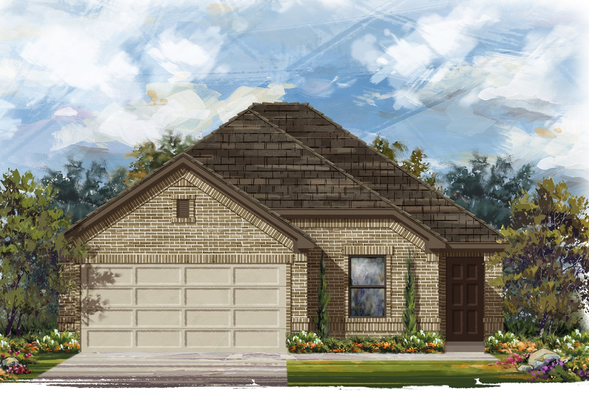 New Homes in Del Valle, TX - Plan E-1694 H