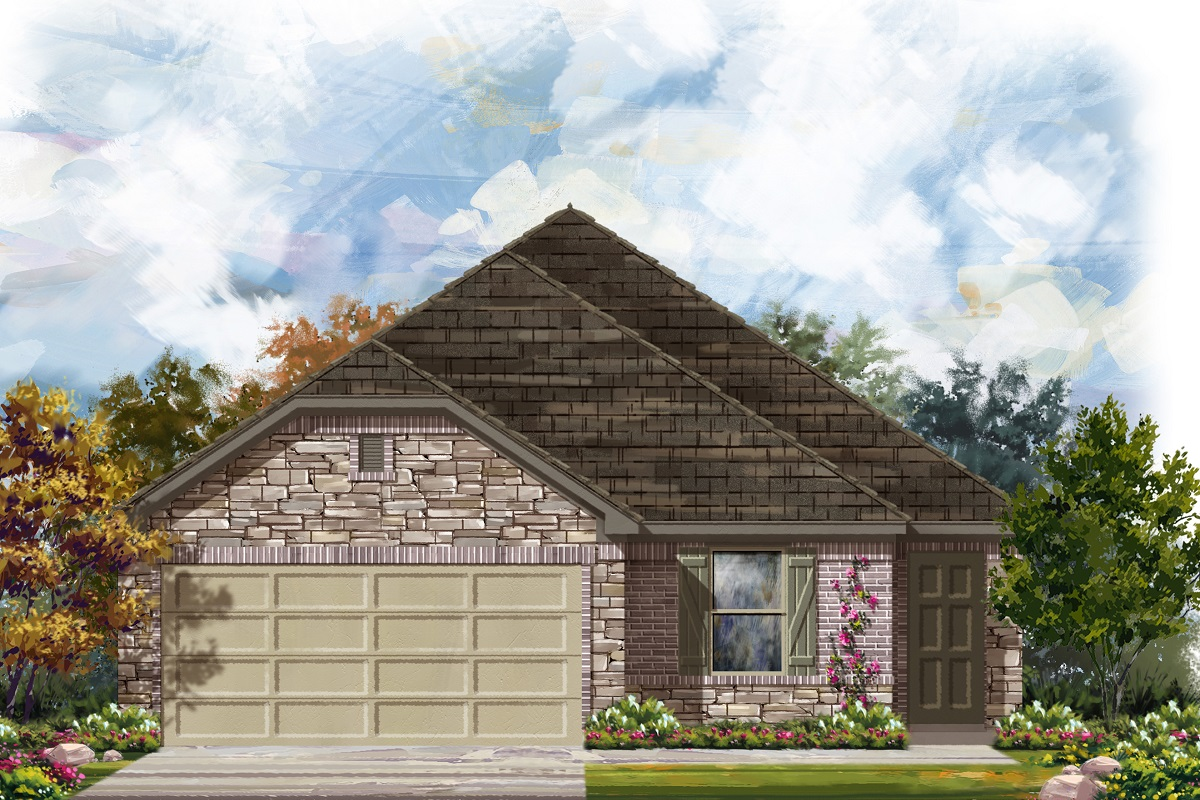 New Homes in Del Valle, TX - Plan E-1694 J