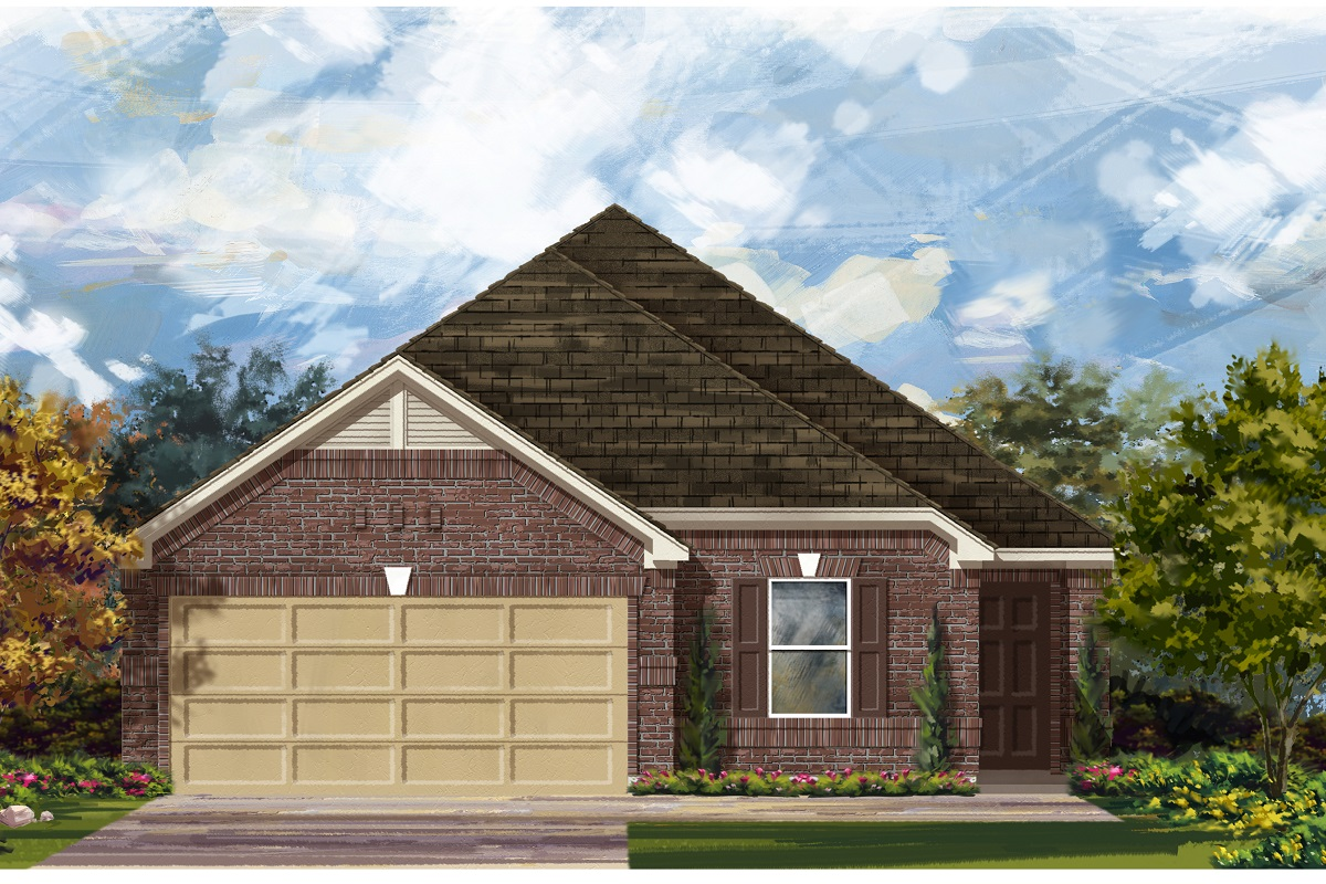 New Homes in Del Valle, TX - Plan E-1892 H