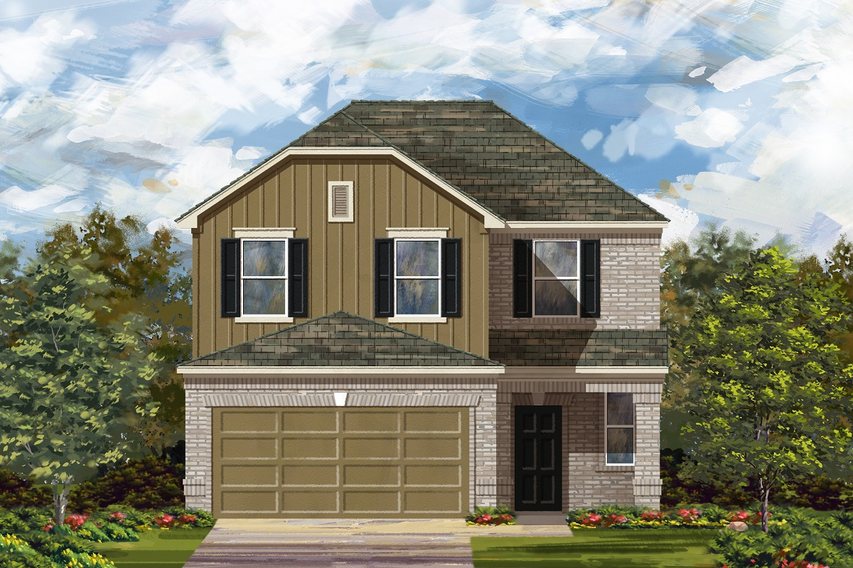 New Homes in Del Valle, TX - Plan F-2239 L