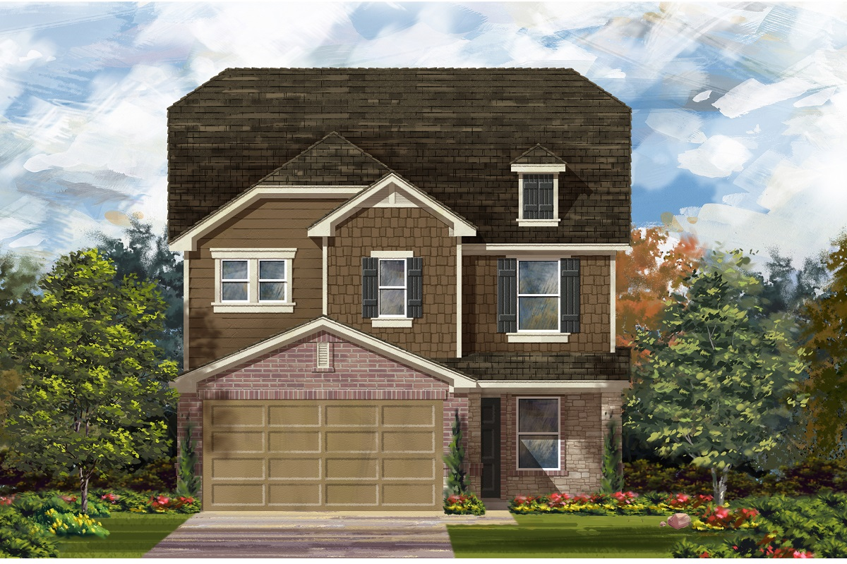 New Homes in Del Valle, TX - Plan F-2411 K
