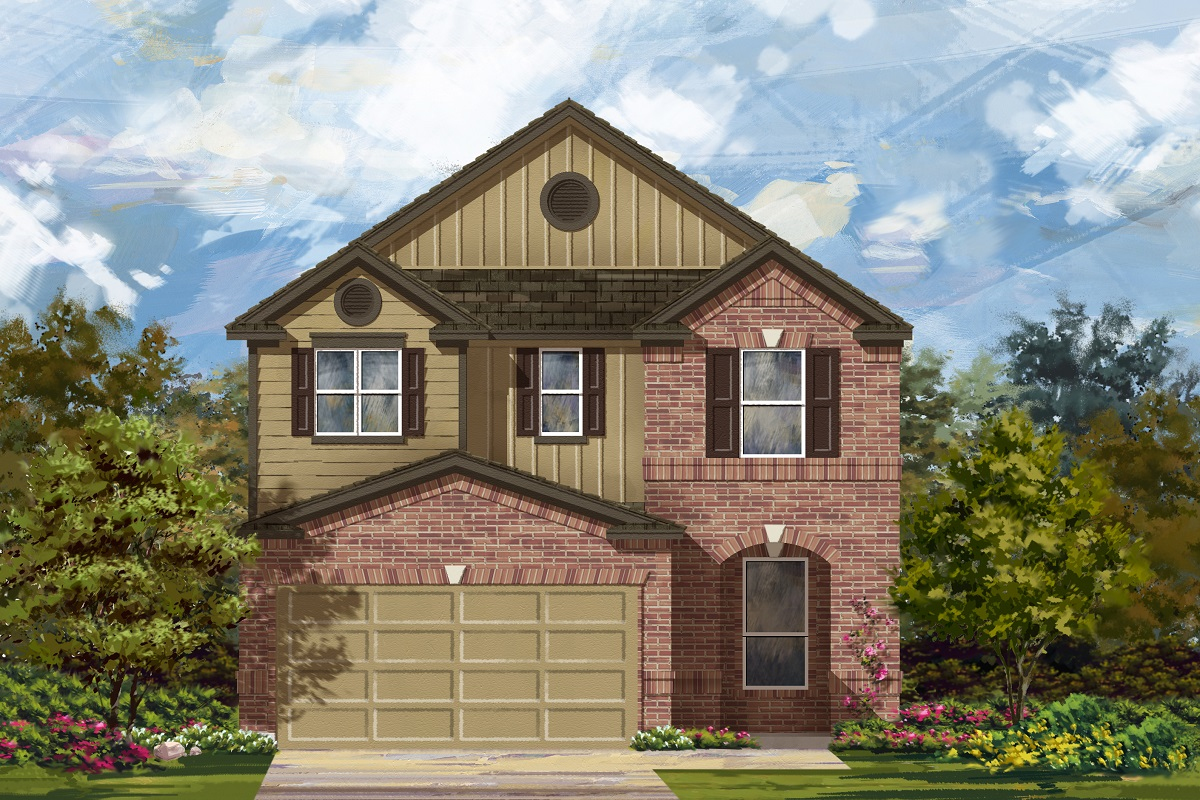 New Homes in Del Valle, TX - Plan F-2411 L