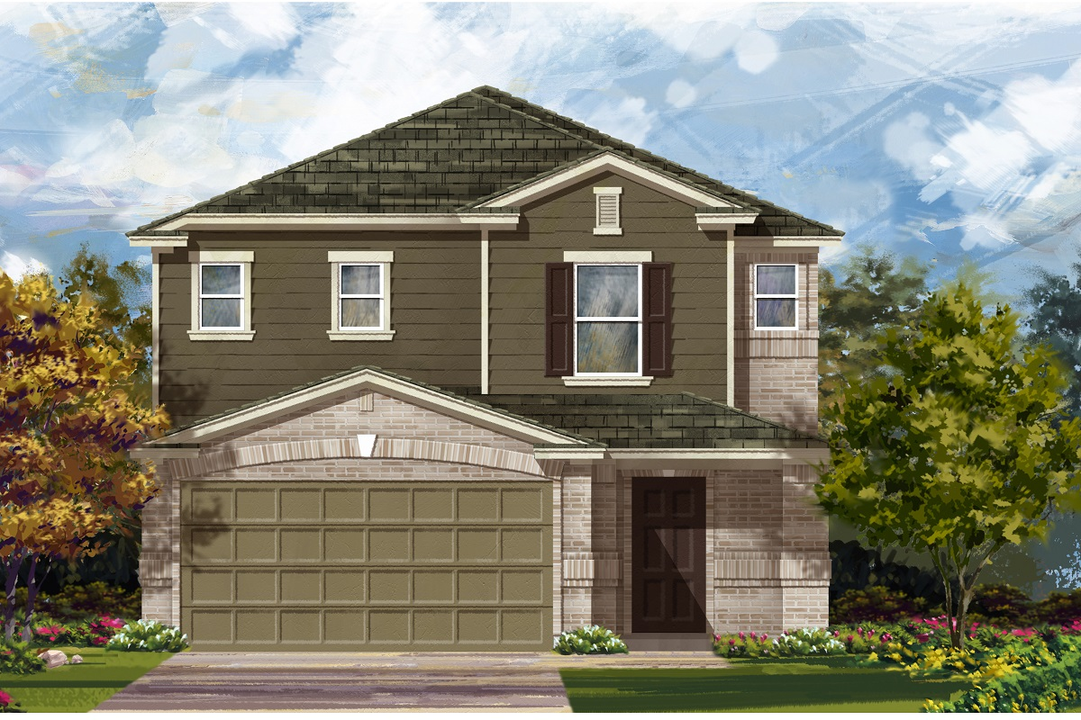 New Homes in Del Valle, TX - Plan F-2495 I