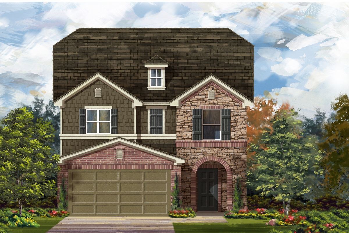 New Homes in Del Valle, TX - Plan F-2495 K