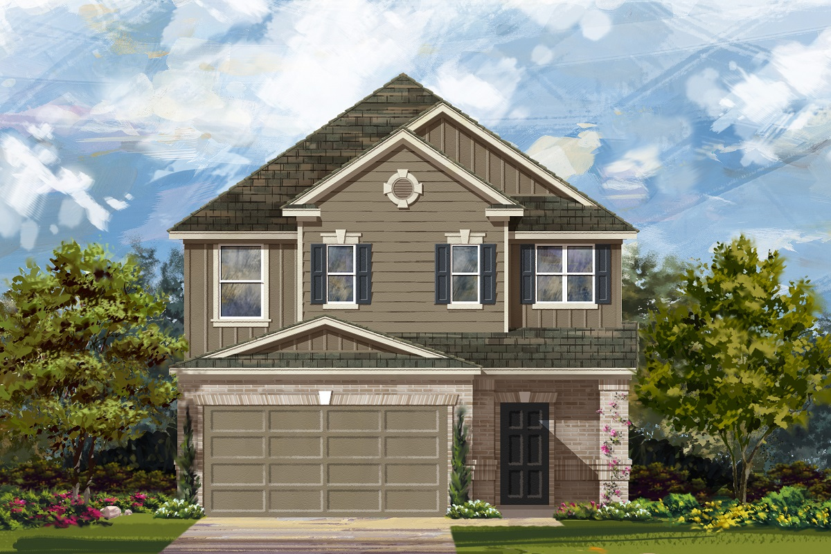 New Homes in Del Valle, TX - Plan F-2495 L