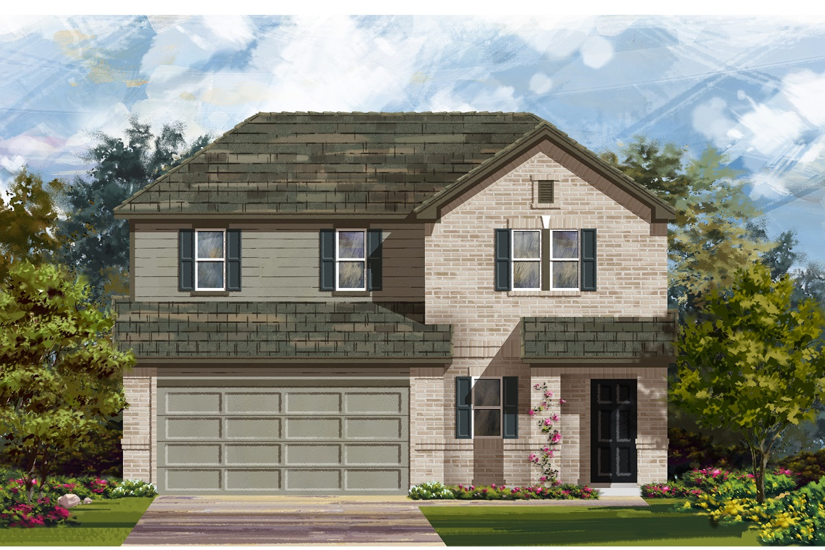 New Homes in Del Valle, TX - Plan E-2516 H