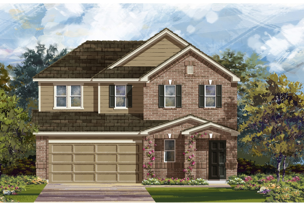 New Homes in Del Valle, TX - Plan E-2516 I