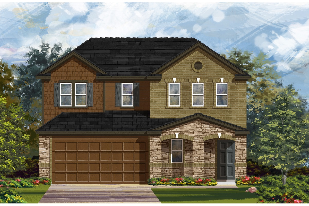 New Homes in Del Valle, TX - Plan E-2516 J