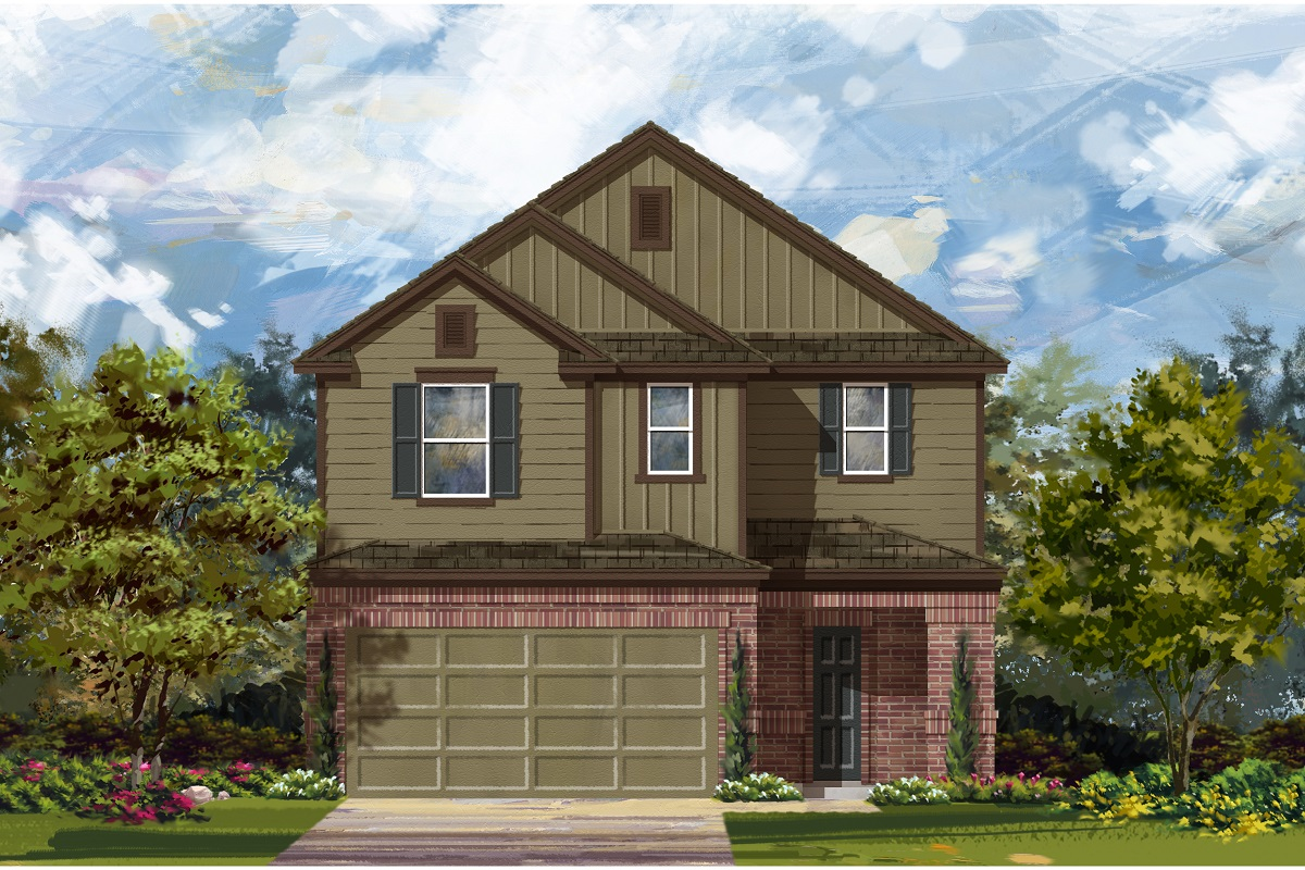 New Homes in Del Valle, TX - Plan F-2708 L