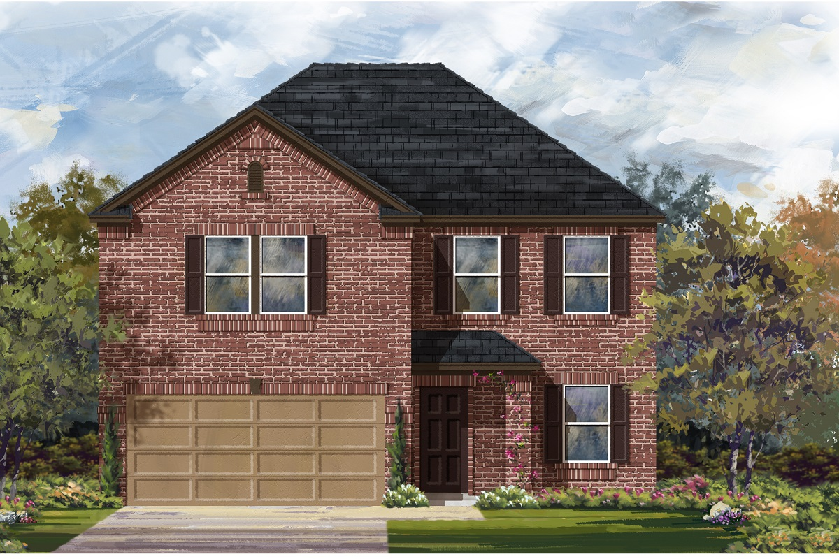 New Homes in Del Valle, TX - Plan E-2898 H
