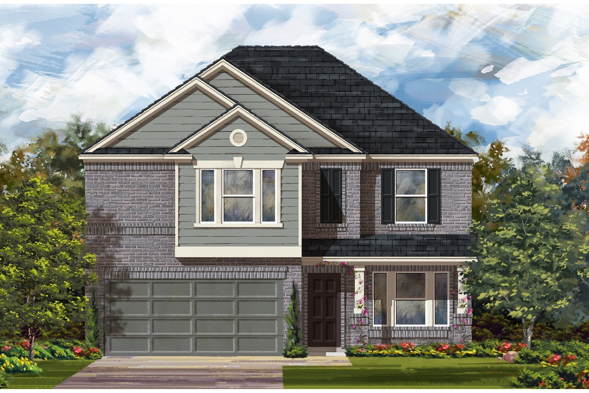 New Homes in Del Valle, TX - Plan E-2898 I