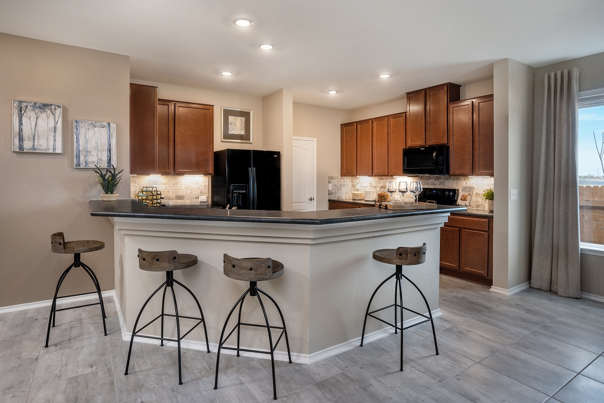 New Homes in Del Valle, TX - Sundance Crossing Plan 1647 Kitchen