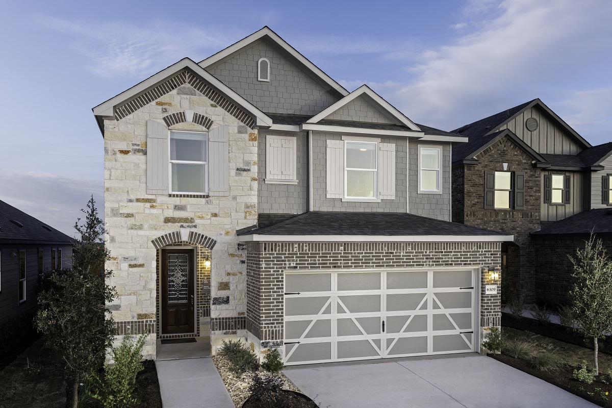 New Homes in Del Valle, TX - Plan 2038 Modeled