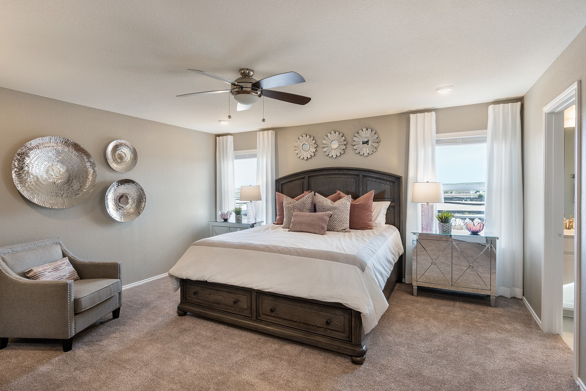 New Homes in Del Valle, TX - Sundance Crossing Plan 2038 Master Bedroom