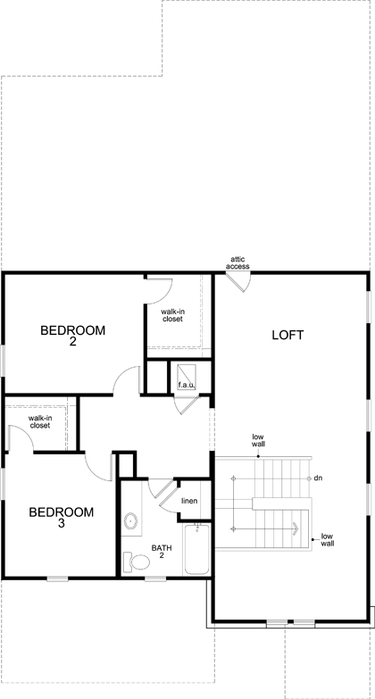 New Homes in Del Valle, TX - Plan 2516, Second Floor