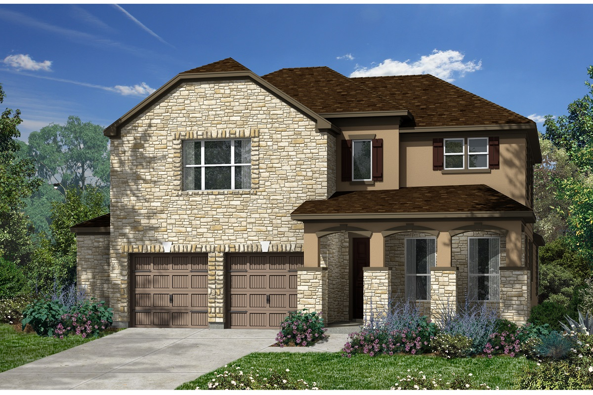 New Homes in Kyle, TX - Plan A-3023 D