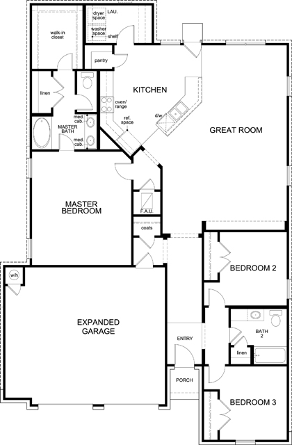 New Homes in Kyle, TX - Plan 1852, First Floor