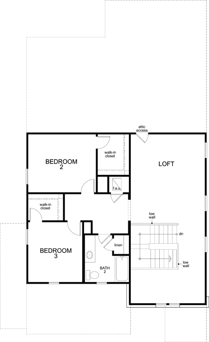 New Homes in Kyle, TX - Plan 2516, Second Floor