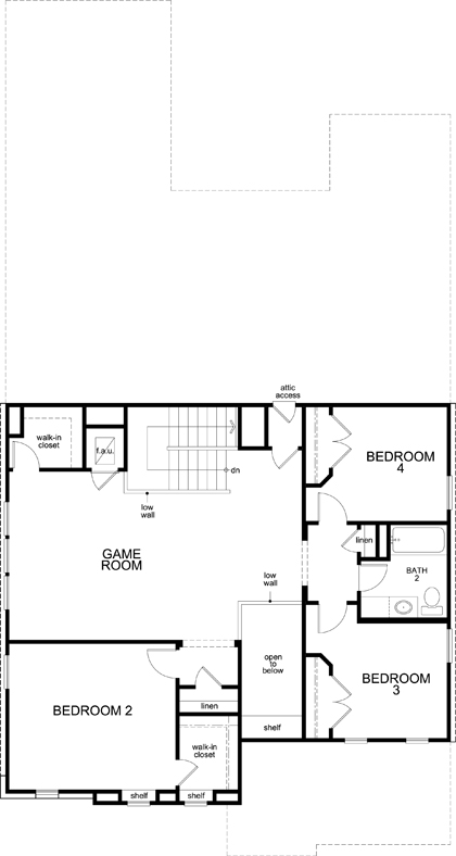 New Homes in Kyle, TX - Plan 3023, Second Floor