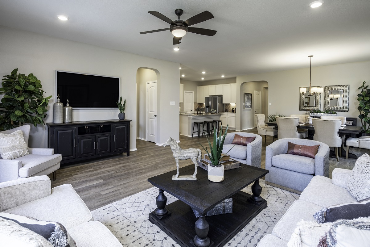 New Homes in Kyle, TX - Sunset Hills Plan A-1965 Great Room