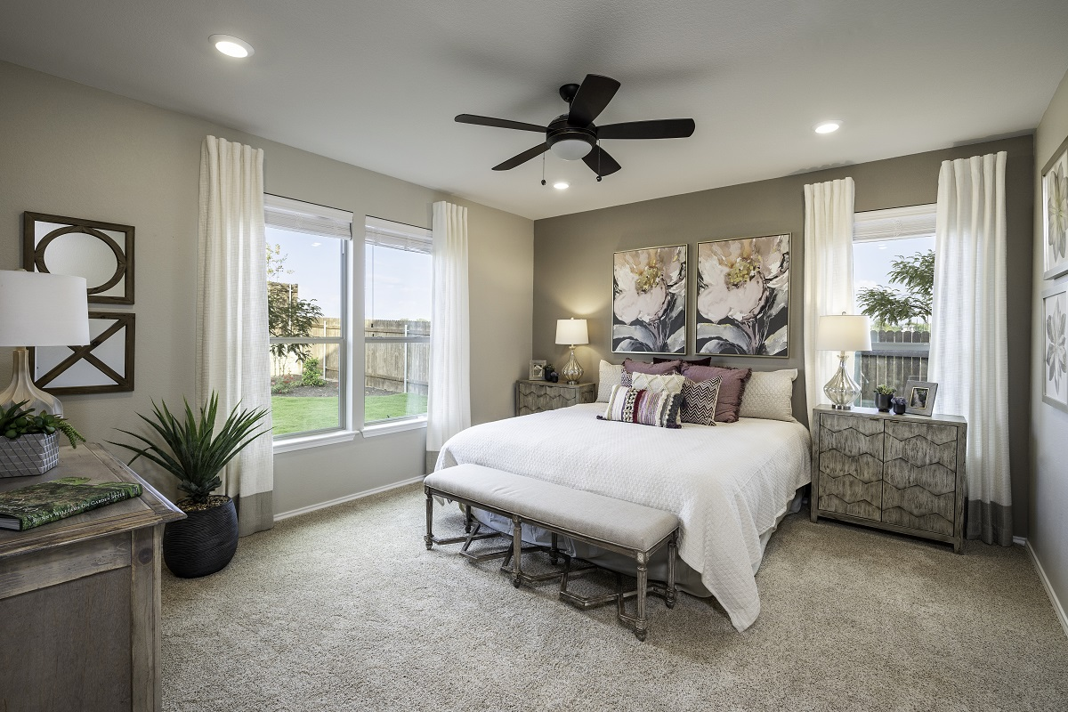 New Homes in Kyle, TX - Sunset Hills Plan A-1965 Master Bedroom
