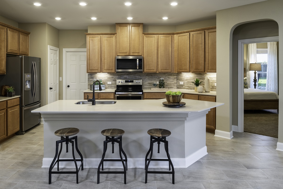New Homes in Kyle, TX - Sunset Hills Plan E-2412 Kitchen