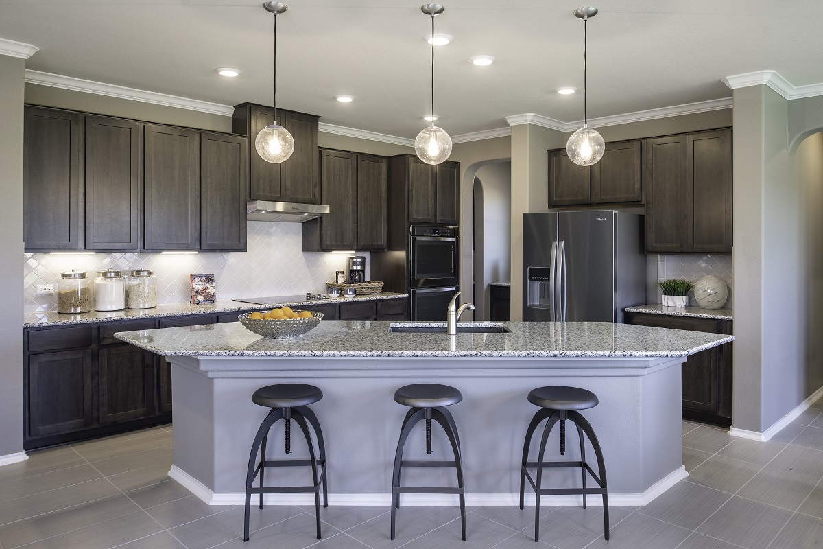 New Homes in Kyle, TX - Sunset Hills Plan A-3475 Kitchen