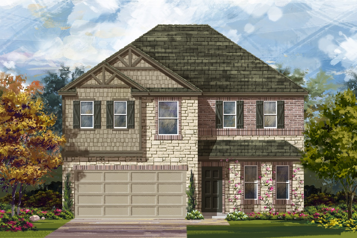 New Homes in Georgetown, TX - Valley View Plan 2898 Elevation J