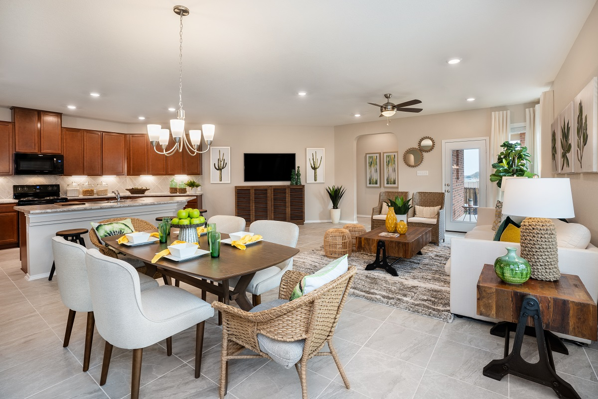 New Homes in Austin, TX - Village at Northtown Plan 1585 Great Room