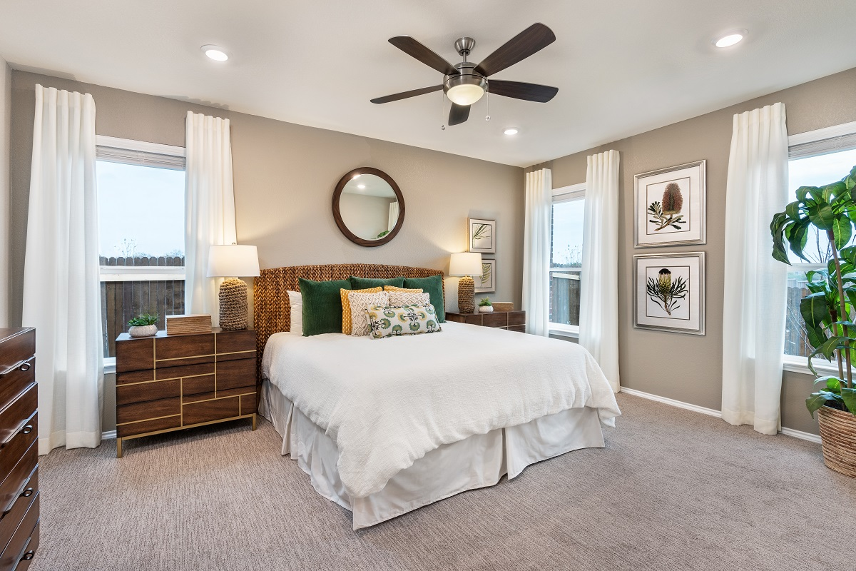 New Homes in Austin, TX - Village at Northtown Plan 1585 Master Bedroom