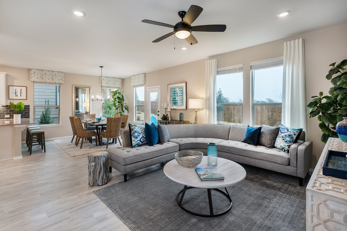 New Homes in Austin, TX - Village at Northtown Plan 2239 Great Room